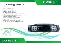 CAF PL 2.5