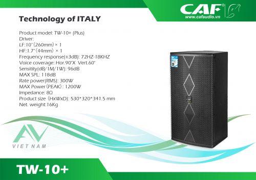 CAF TW-10+ (Plus)